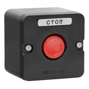 Пост кнопочный ПКЕ 212-1 У3 красная IP40 (карболит)